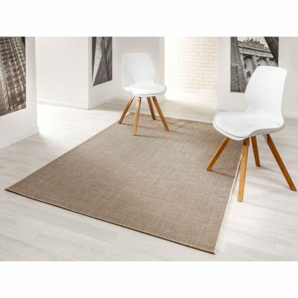 """Astra """"Rho"""" Teppich im Design 190 mit der Farbe Braun im Milieu."""