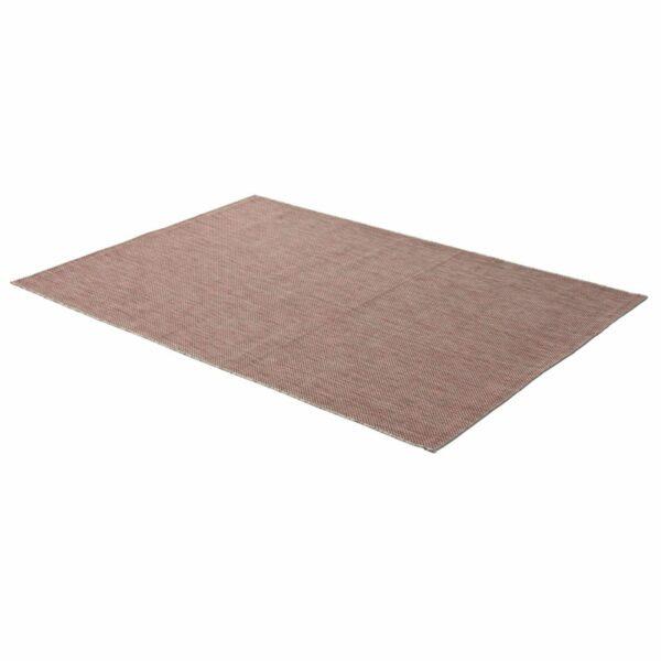 """Astra """"Rho"""" Teppich im Design 190 mit der Farbe Rot in liegender Ansicht."""