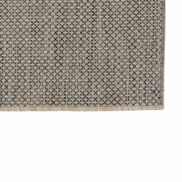 """Astra """"Rho"""" Teppich im Design 190 mit der Farbe Silber in Nahansicht der Ecke."""
