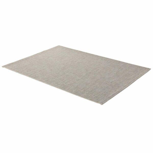 """Astra """"Rho"""" Teppich im Design 190 mit der Farbe Silber in liegender Ansicht."""