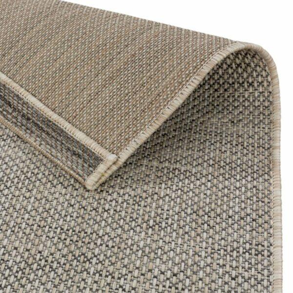 """Astra """"Rho"""" Teppich im Design 190 mit der Farbe Silber, Nahansicht der Rückseite."""