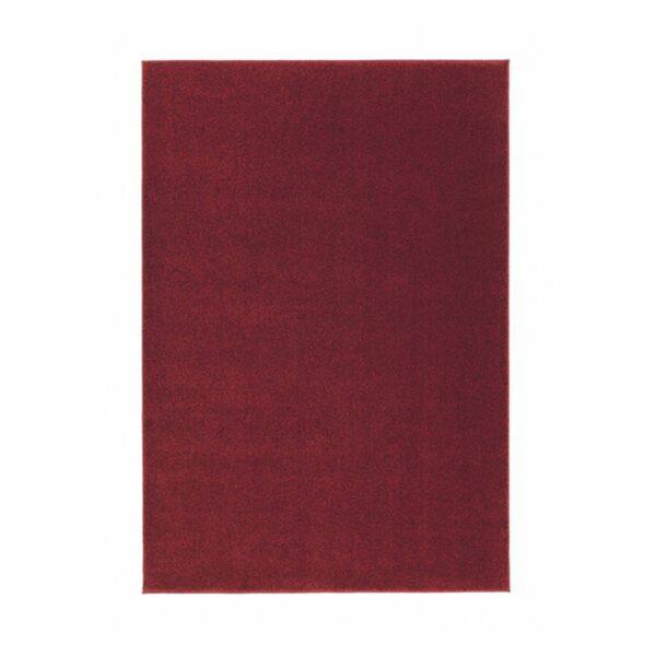 "Astra ""Samoa"" Teppich in der Farbe Rot in frontaler Ansicht."