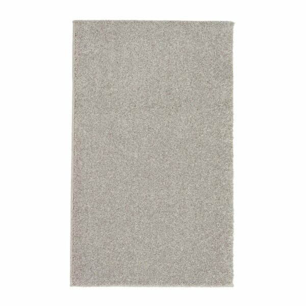 """Astra """"Samoa"""" Teppich in der Farbe Silber in frontaler Ansicht."""