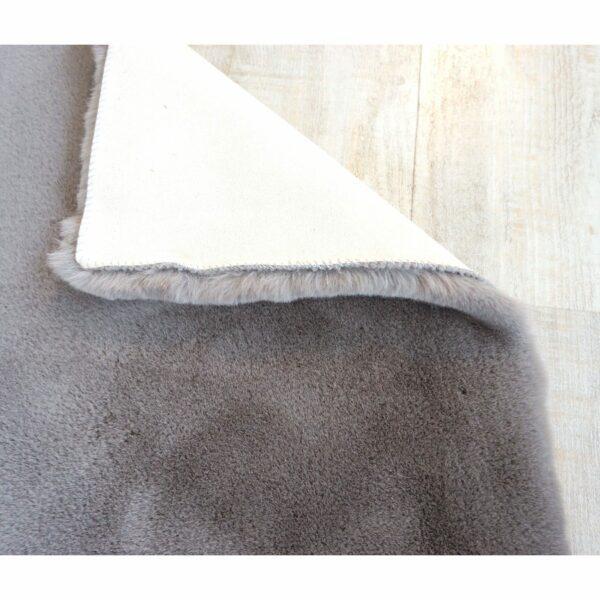 Astra Tender eckiger Fellteppich grau Detail