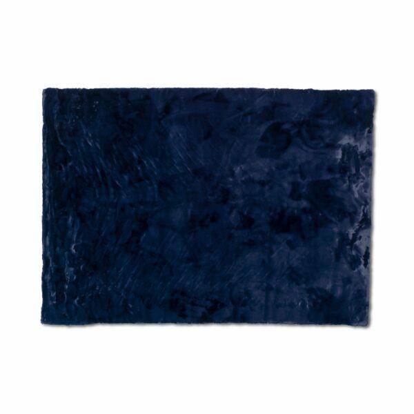 Astra Tender eckiger Fellteppich nachtblau