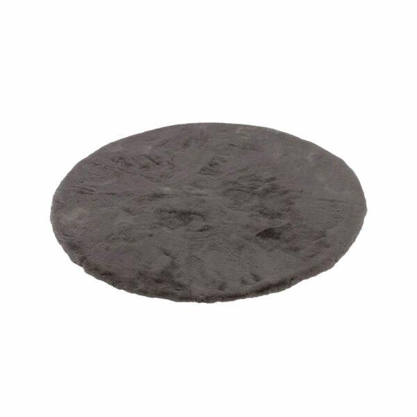 Astra Tender runder Fellteppich grau seitlich