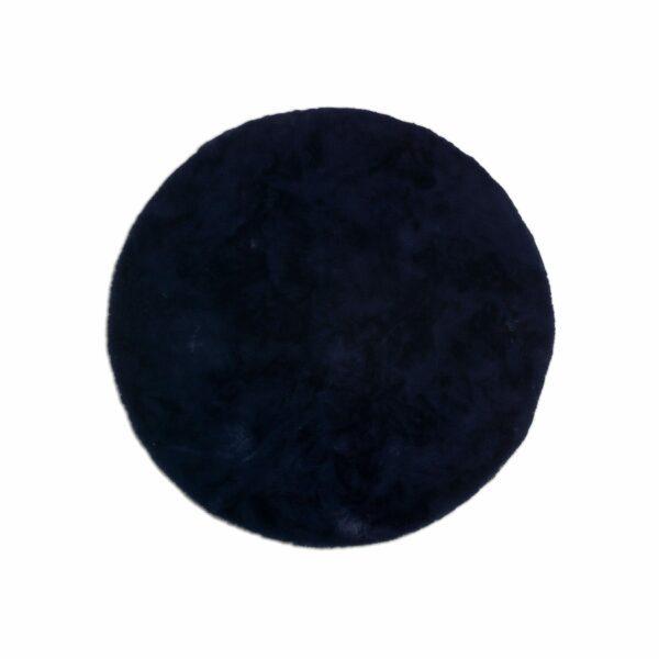 Astra Tender runder Fellteppich nachtblau