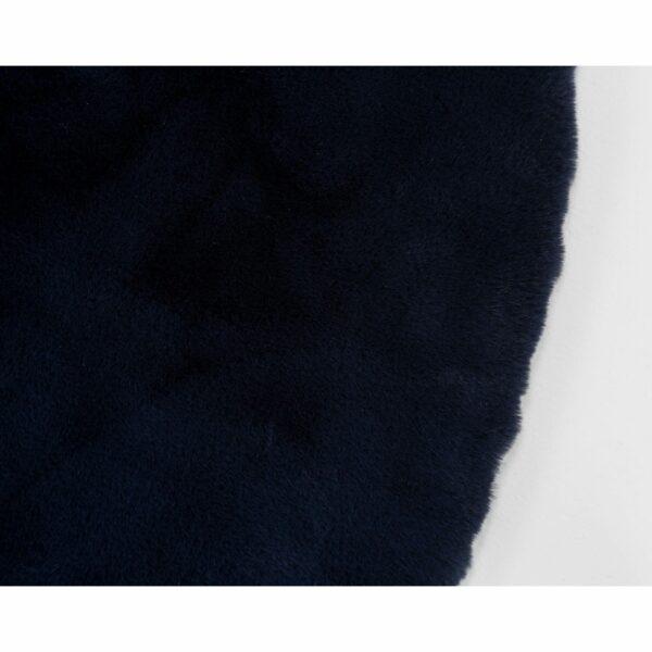 Astra Tender runder Fellteppich nachtblau – Detail 2