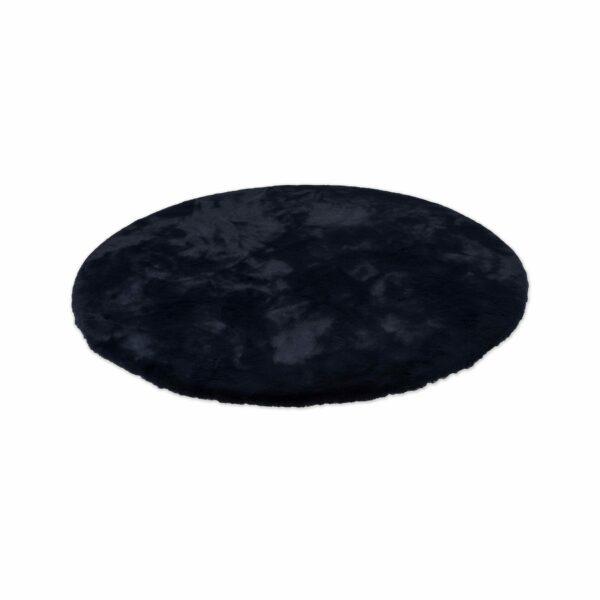 Astra Tender runder Fellteppich nachtblau seitlich