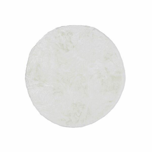 Astra Tender runder Fellteppich weiß