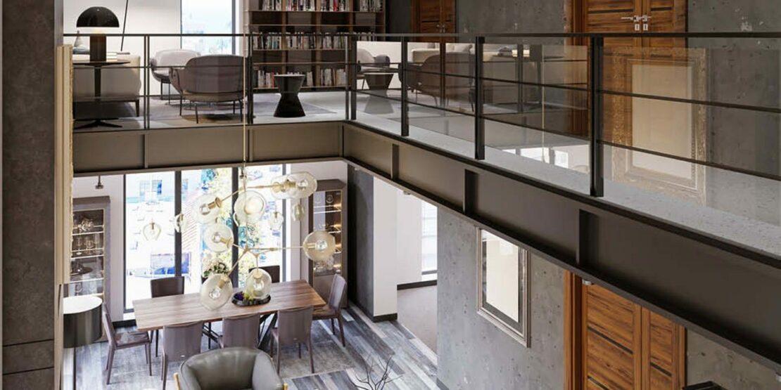 Atrium in einem Wohnbereich