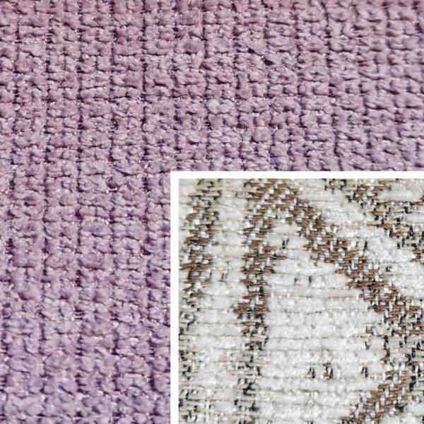 Sofabezug Paris-Flieder 92 – Kissenbezug Socrates Braun 05