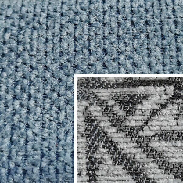 Sofabezug Paris-Grey-Blue 1676 – Kissenbezug Socrates Grau 03