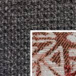 Sofabezug Paris-Schwarz 17 – Kissenbezug Socrates Rot 07