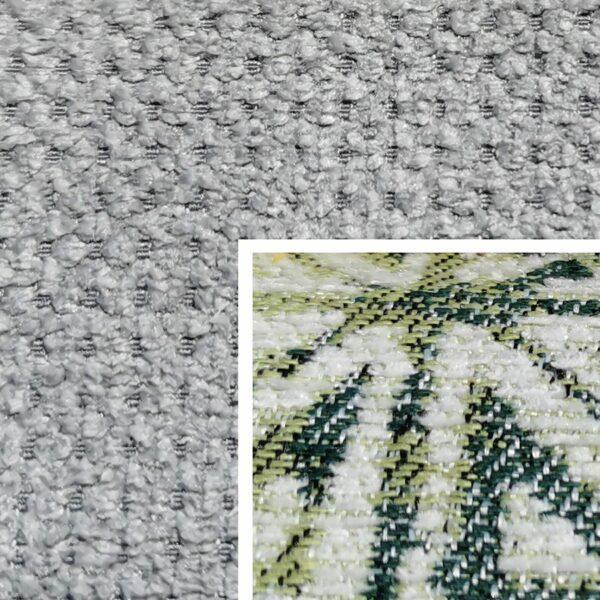 Sofabezug Paris-Silber 45 – Kissenbezug Socrates Grün 09