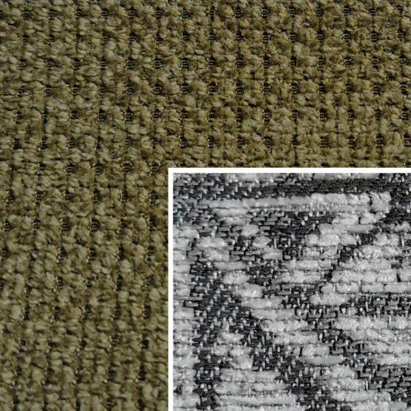 Sofabezug Paris-Dunkelgrün 757 – Kissenbezug Socrates Grau 03