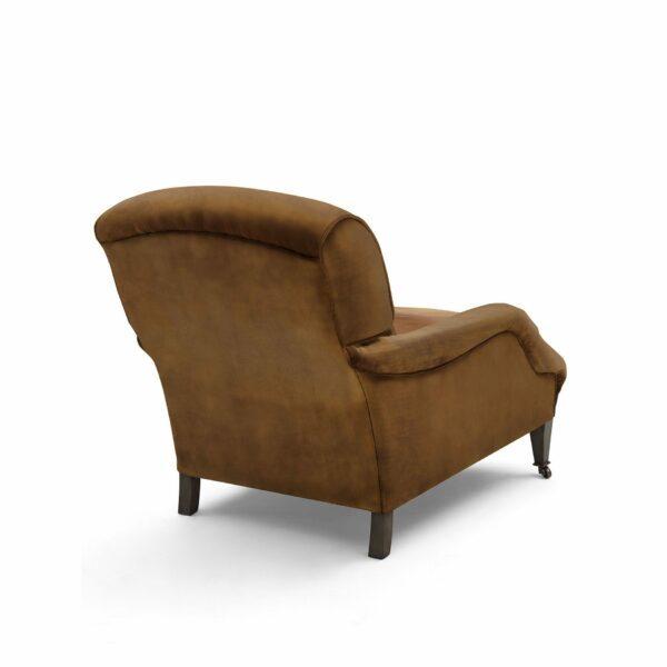 """WK Wohnen """"5006"""" Longchairsessel mit Lederbezug Buffalo in der Farbe Light Brown matt in Rückansicht."""