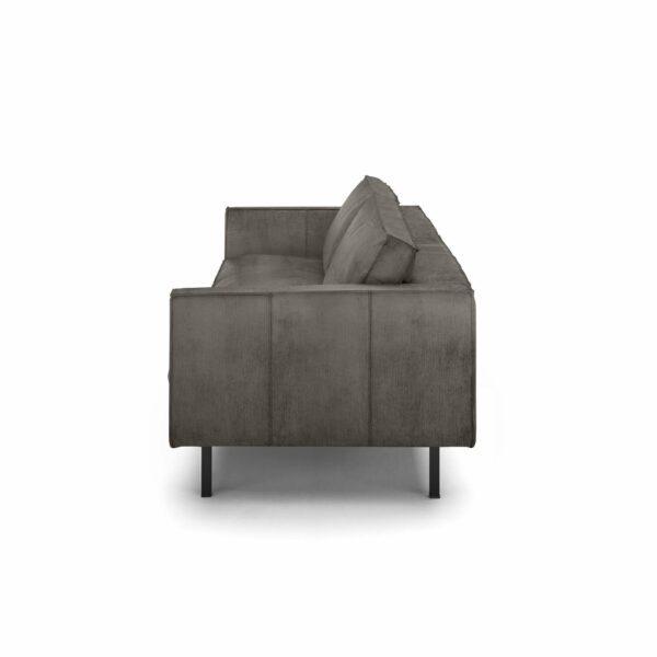 """WK Wohnen Edition """"6001"""" Sofa mit Bezug Textilgewebe Velvet in der Farbe Anthrazit von der Seite."""
