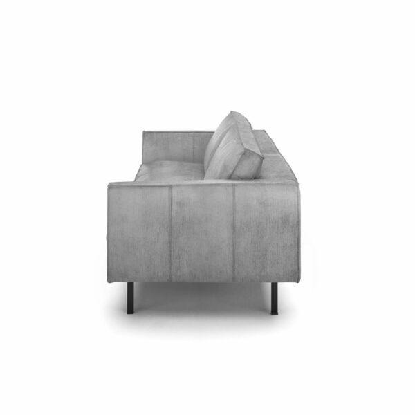 """WK Wohnen Edition """"6001"""" Sofa mit Bezug Textilgewebe Velvet in der Farbe Dolphine von der Seite."""