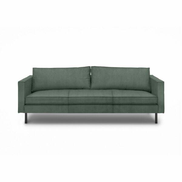 """WK Wohnen Edition """"6001"""" Sofa mit Bezug Textilgewebe Velvet in der Farbe Niagara in frontaler Ansicht."""
