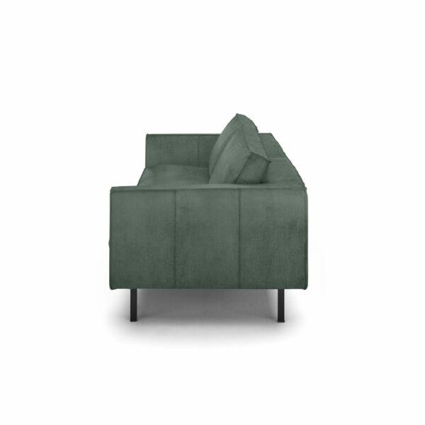 """WK Wohnen Edition """"6001"""" Sofa mit Bezug Textilgewebe Velvet in der Farbe Niagara von der Seite."""
