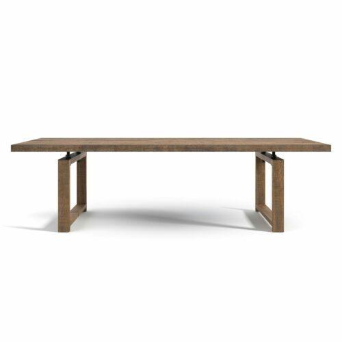 """WK Wohnen Edition """"8001"""" Esstisch mit Tischplatte Rustikal Oak Weathered in frontaler Ansicht."""