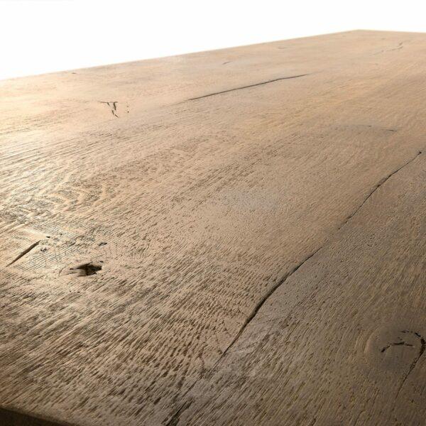 """WK Wohnen Edition """"8002"""" Esstisch mit Tischplatte in Rustical Oak Weathered in Detailansicht 2."""