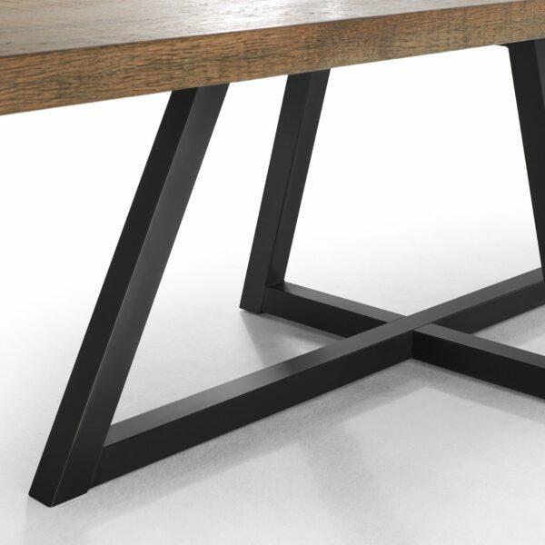 """WK Wohnen Edition """"8002"""" Esstisch mit Tischplatte in Rustical Oak Weathered in Detailansicht."""