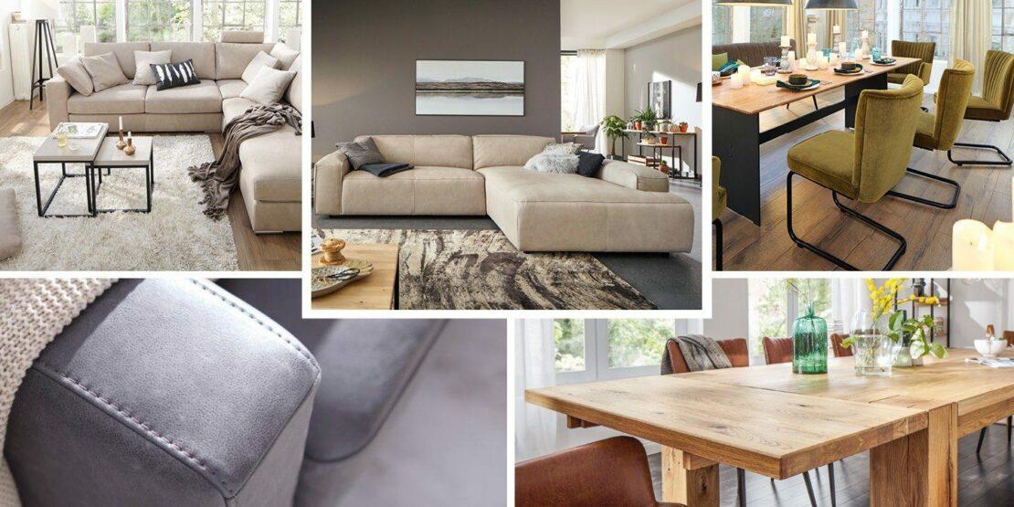 Der Hygge-Stil im Wohnzimmer und am Essplatz