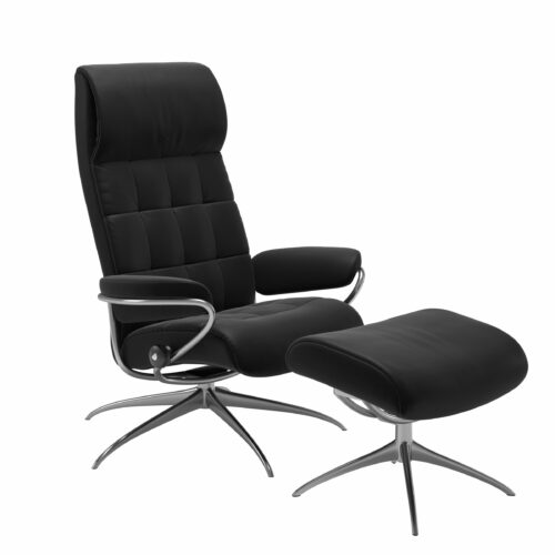 Stressless London Sessel High Back mit Hocker schwarz