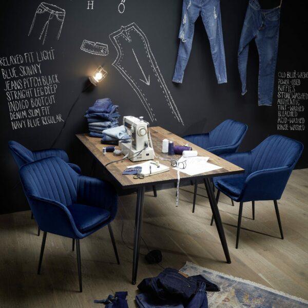 """Trendstore """"Abelia"""" Stuhl dunkelblau Wohnbeispiel"""