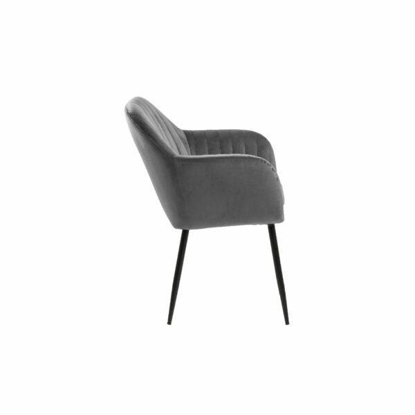 "Trendstore ""Abelia"" Stuhl dunkelgrau einzeln"