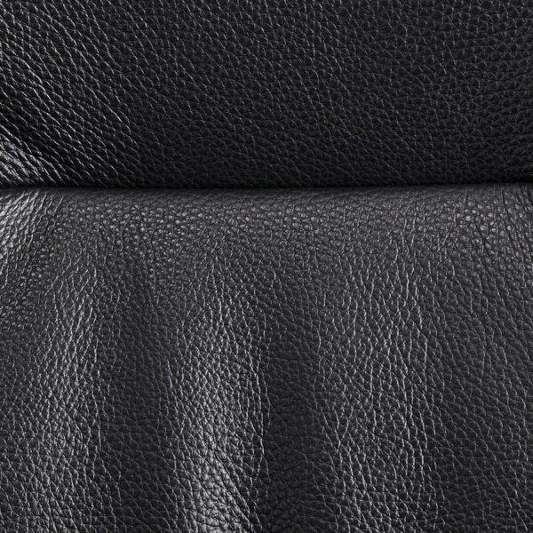 "Conform ""Carla"" Sessel mit Hocker (schwarz) - Lederbezug schwarz"