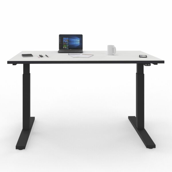 Nowy Styl eUP2 elektromotorischer Steh- und Sitzarbeitstisch – Gestell und Tischkante schwarz
