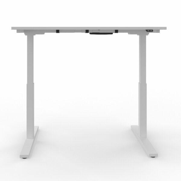 Nowy Styl eUP2 elektromotorischer Steh- und Sitzarbeitstisch mit Gestell weiß