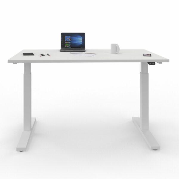 Nowy Styl eUP2 elektromotorischer Steh- und Sitzarbeitstisch mit Gestell weiß – Impression