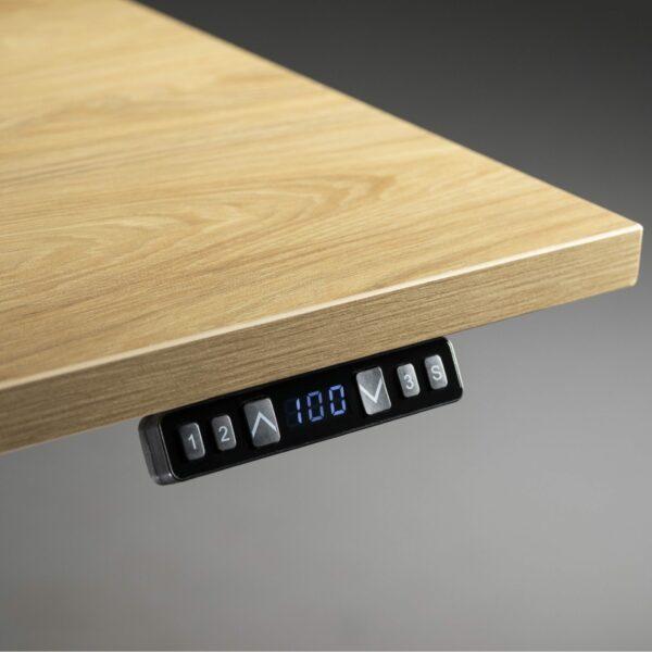 Nowy Styl eUP3 Arbeitstisch NZ Natural Hickory – Detail Tischkante