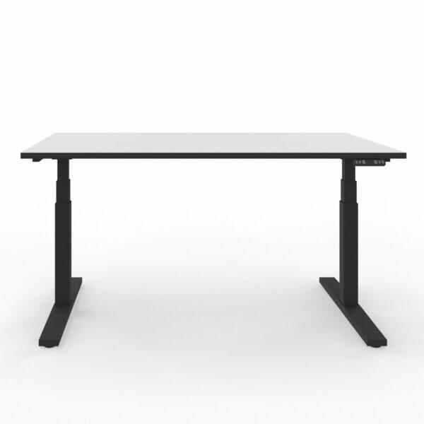 Nowy Styl eUP3 Arbeitstisch weiß – Gestell und Tischkante schwarz
