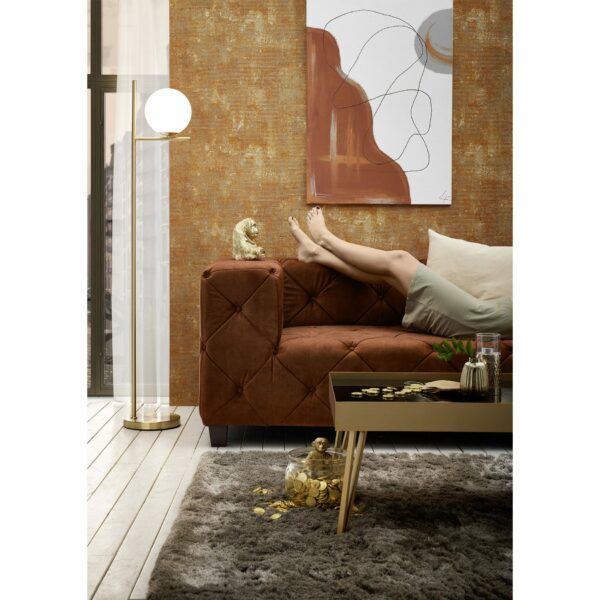 "Trendstore ""Dilia"" Sofa 3-Sitzer mit Bezug Samtvelours Amour 5515 picante im Milieu 2."