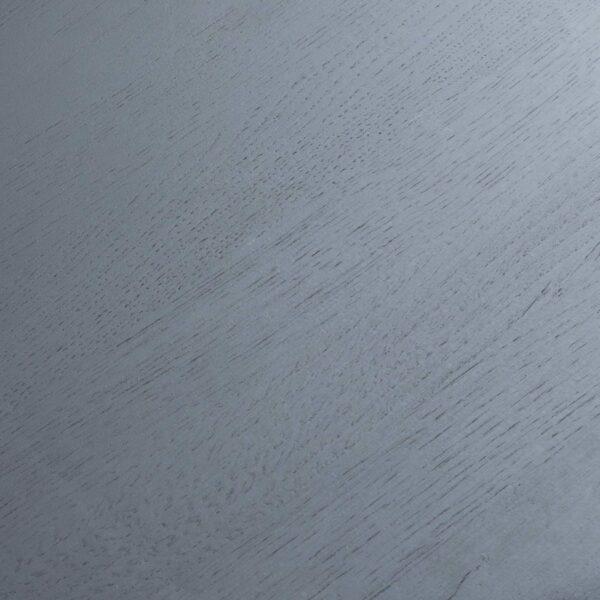 """Raum.Freunde """"Nico"""" Beistelltisch in schwarz mit Metall-Gestell pulverbeschichtet und Platte in massiv astiger Eiche Detailansicht Platte"""