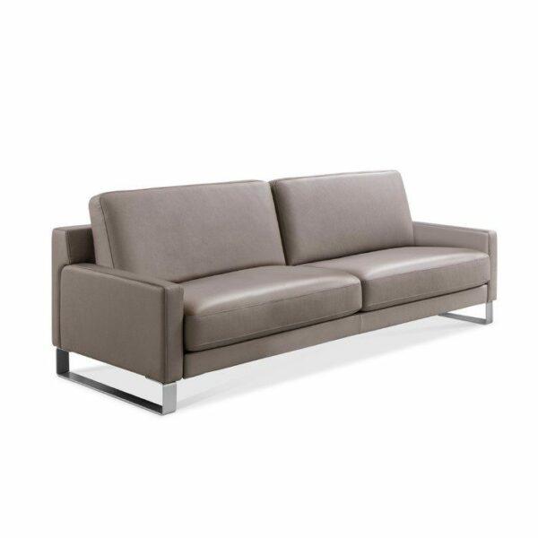 Rolf Benz Ego Sofa in Leder beigegrau seitlich