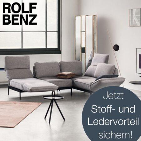 Rolf Benz: Sichern Sie sich Ihren Stoff- und Ledervorteil