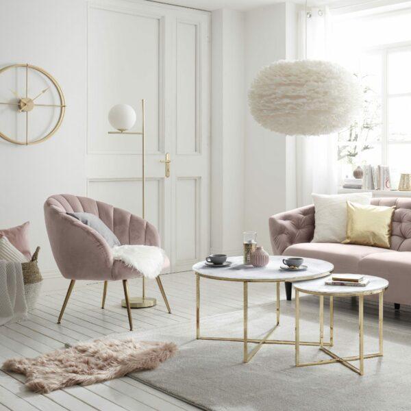 """Trendstore """"Annina"""" Loungesessel in rose Wohnbeispiel"""