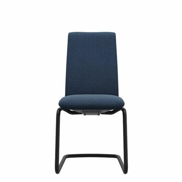 Stressless Laurel Freischwinger mit Textilbezug Dahlia blue und D400 Gestell in schwarz matt - Frontansicht