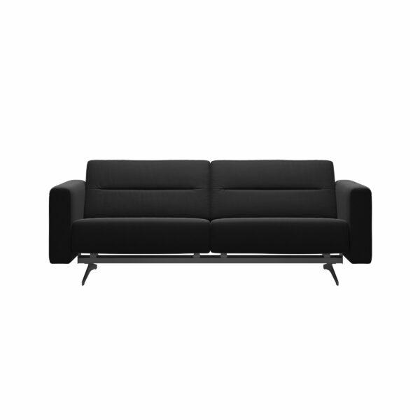 Stressless Stella 2,5-Sitzer Sofa mit Bezug Paloma Black - Frontansicht