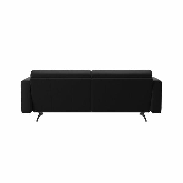 Stressless Stella 2,5-Sitzer Sofa mit Bezug Paloma Black - Rückansicht