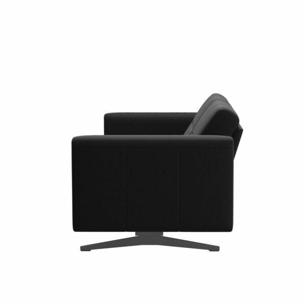 Stressless Stella 2,5-Sitzer Sofa mit Bezug Paloma Black - Seitennsicht
