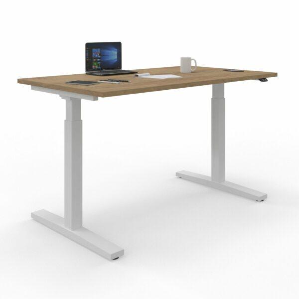 Nowy Styl eUP2 Tisch – Tischplatte NZ Natural Hickory und Gestell weiß