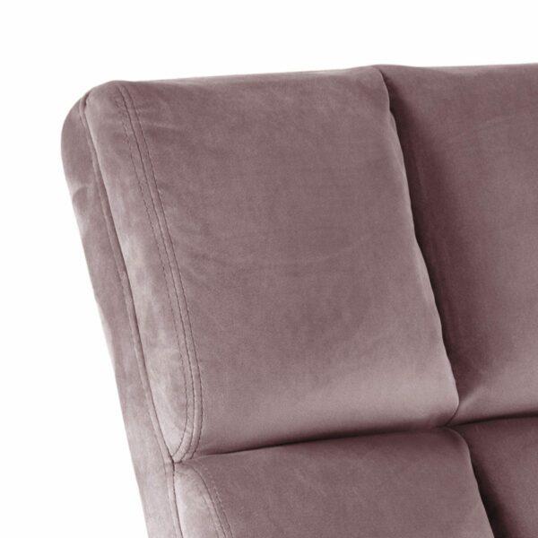 "Trendstore ""Aila"" Loungestuhl in Dusty Rose – Detail Stoffbezug"