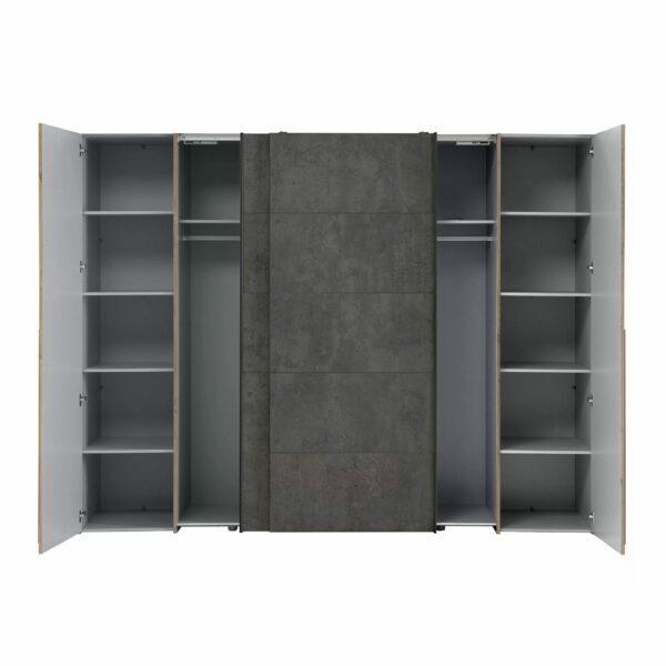 Trendstore Fahda Kleiderschrank mit Türstopper geöffnet frontal